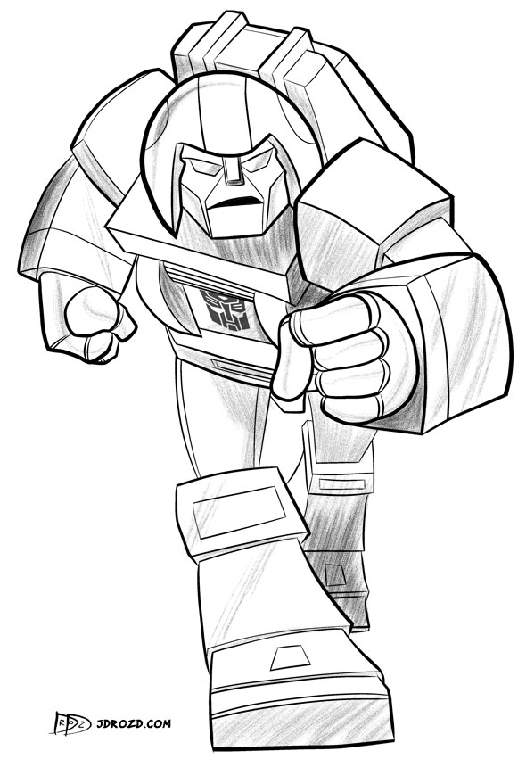 G1 Devastator Coloring Pages Coloring